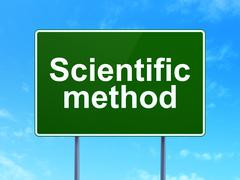 Science concept: Scientific Method on road sign background - stock illustration