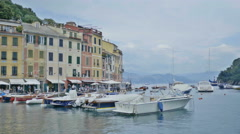 Ligurian Sea View from Portofino Italy - Editorial - 25FPS PAL Stock Footage