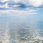 Waterscape with blue sky and calm water Azov Sea Stock Photos
