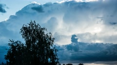 Massive clouds. Stormy weather. Epic clouds time lapse. Rain showers.Zoom in. Stock Footage