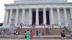 Lincoln Memorial Washington DC USA Stock Footage