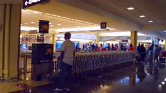 DCA luggage claim Stock Footage