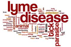 Lyme disease word cloud concept Stock Illustration