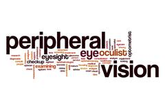 Peripheral vision word cloud concept Stock Illustration