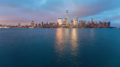 Time-lapse of the lower Manhattan skyline - stock footage