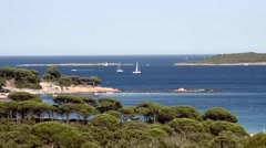 Timelapse of Palombaggia beach in Corsica Stock Footage