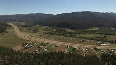 Scienic Panoramic of Bustling Clinton, Montana Stock Footage