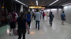 4k Travellers walking in arrive terminal to Don Mueang international airport-Dan Stock Footage