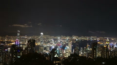 Time-lapse of Hong Kong world famous Symphony of lights from Victoria peak Stock Footage