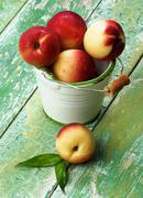 Ripe Small Nectarines Stock Photos