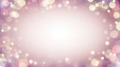Gentle pink frame of bokeh lights. Seamless loop background 4k (4096x2304) Stock Footage