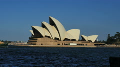 Australia Sydney Opera House ferries pass by time lapse Stock Footage