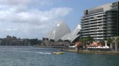 Australia Sydney opera house plus apartments Stock Footage