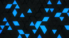 Blue and black triangles extruding 3D render loopable 4k UHD (3840x2160) Stock Footage