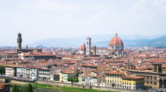 4K Timelapse video with aerial View of Florence Cathedral in the Florence, Italy Stock Footage
