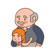 grandfather old person man male icon. Vector graphic - stock illustration