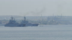 Amphibious landing - Parade of Russian Navy Day Stock Footage