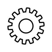 Gear cog circle machine part icon. Vector graphic Stock Illustration