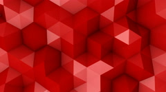 Red triangle polygons background loopable 4k UHD (3840x2160) Stock Footage