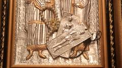 Greece Religious Icon Stock Footage