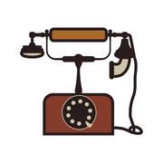Phone technology retro vintage icon. Vector graphic - stock illustration