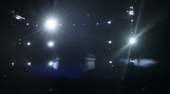 Stage concert lights flashing - stock footage