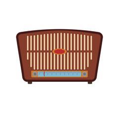 Radio technology retro vintage icon. Vector graphic Stock Illustration