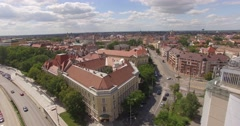 Drone over city Szeged Stock Footage