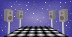 Futuristic space for dance party Stock Illustration