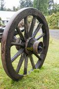 Vintage Wagon Wheel - Puerto Montt - Chile Stock Photos