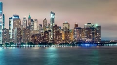 Time-lapse of the Manhattan skyline - stock footage