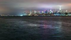 Time-lapse of the Manhattan skyline Stock Footage