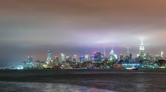 Time-lapse of the Manhattan skyline Stock Footage