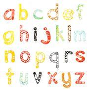 Lower case alphabet Stock Photos