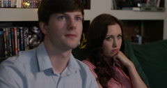 4k, Girlfriend gets irritated while her boyfriend is busy playing video game Stock Footage