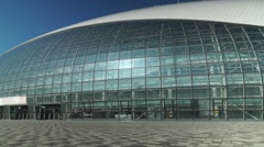 RUSSIA, SOCHI -  Bolshoi Ice Dome in Olympic Park. Venue World Stock Footage