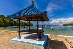 Padangbai Beach - Bali Island Indonesia - stock photo