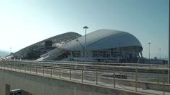 RUSSIA, SOCHI - Fisht Olympic Stadium. Reconstruction of stadium Stock Footage