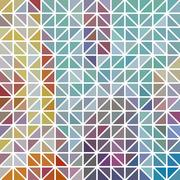 Abstract geometric colored triangle grid Stock Illustration