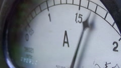 Old style micro ammeter Stock Footage
