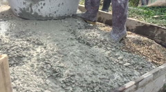 Slow motion mixing cement for the preparation of construction Stock Footage