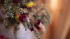 Bouquet of dried flowers Stock Footage