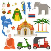Thailand travel vector illustration Stock Illustration