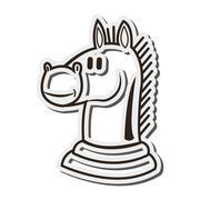 Knight chess piece icon Stock Illustration
