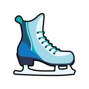 Skate shoe winter sport hobby icon. Vector graphic Stock Illustration