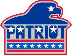 American Bald Eagle USA Flag Retro - stock illustration