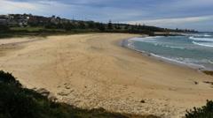 Australia Beach at Kianga with tracks Stock Footage