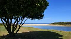 Australia Kianga stream blocked by sand Stock Footage
