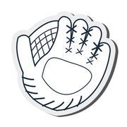 Baseball glove icon Stock Illustration