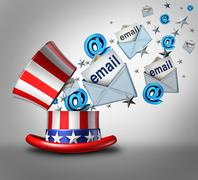 American Election Email Crisis Stock Illustration